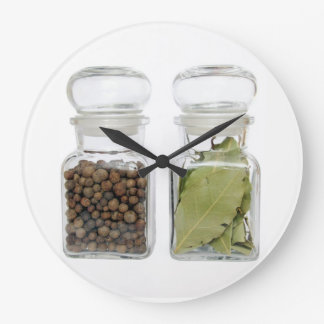kitchen spices large clock