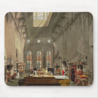 Kitchen, St. James's Palace, engraved by William J Mouse Pad