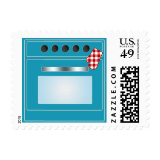 Kitchen Stove (Choose Your Color!) Postage Stamp
