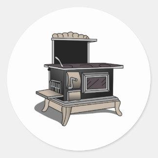 Kitchen Stove Classic Round Sticker