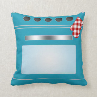 Kitchen Stove with Potholder Pillow