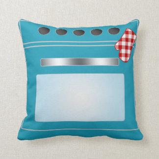 Kitchen Stove with Potholder Throw Pillow