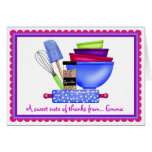 Kitchen Supplies Baking Thank You Note Cards