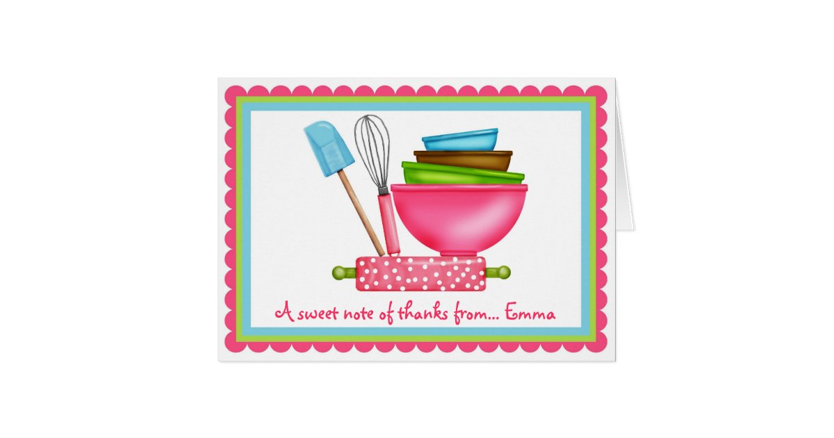 Thank You For Baking: Kitchen Supplies Baking Thank You Note Cards