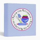 Kitchen Supplies- Bright- Recipe BInder blue