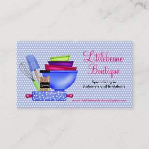 Cooking supplies business cards zazzle kitchen supplies business calling cards reheart Choice Image