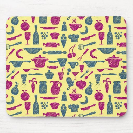 Kitchen supplies mouse pad