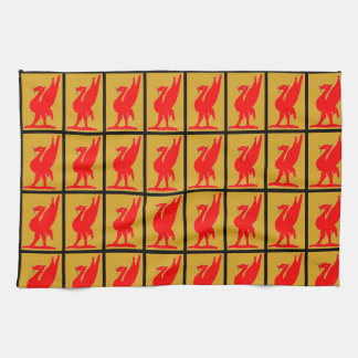 Kitchen / T Towel - Lyver / Liver Bird