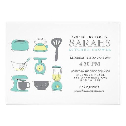 Kitchen Tea Bridal Shower Party Invite Zazzle