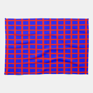 Kitchen / Tea Towel: Blue back, Red diags Towel