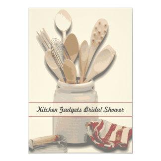 "Kitchen Themed Bridal Shower Custom Invitation 5"" X 7"" Invitation Card"