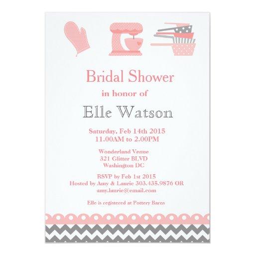 Kitchen themed bridal shower invitations custom card zazzle for Themed bridal shower invitations