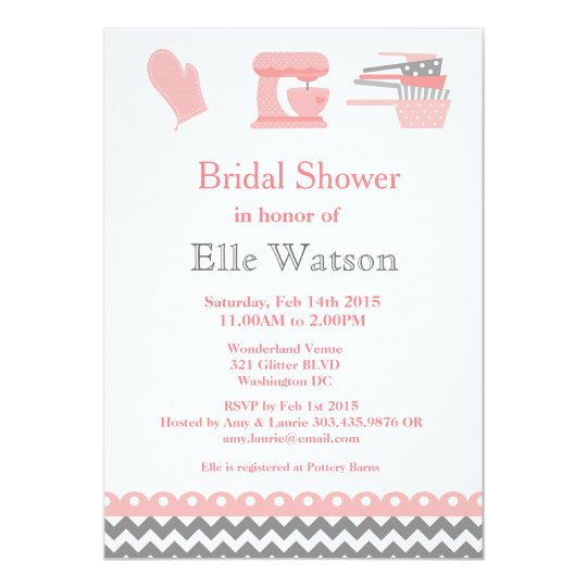Kitchen themed bridal shower invitations custom invitation zazzle kitchen themed bridal shower invitations custom invitation filmwisefo