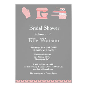 kitchen themed bridal shower invitations custom invitation