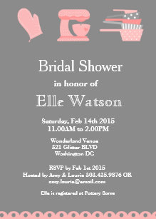 Kitchen theme bridal shower invitations announcements zazzle kitchen themed bridal shower invitations custom invitation filmwisefo
