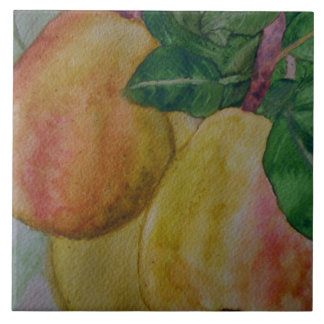 kitchen tile with original watercolor