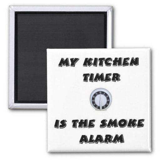 Kitchen Timer Smoke Alarm Magnet Zazzle