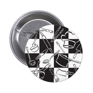 Kitchen Tools Check Pinback Button