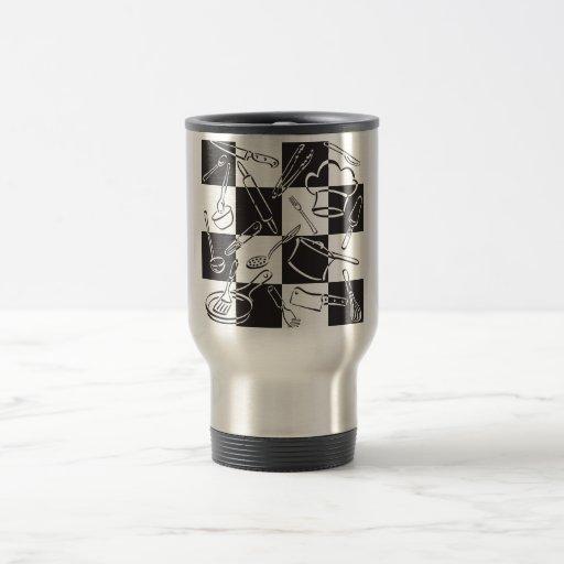 Kitchen Tools Checkerboard Mugs
