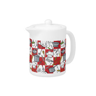 Kitchen Tools Checkerboard Teapot