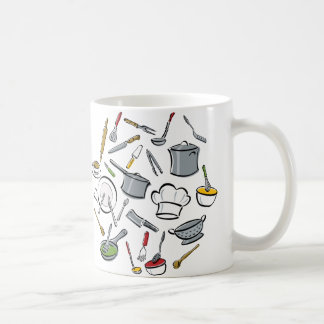 Kitchen Tools Pattern Coffee Mug
