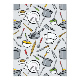 Kitchen Tools Pattern Personalized Invite