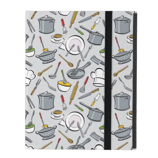 Kitchen Tools Pattern iPad Folio Case