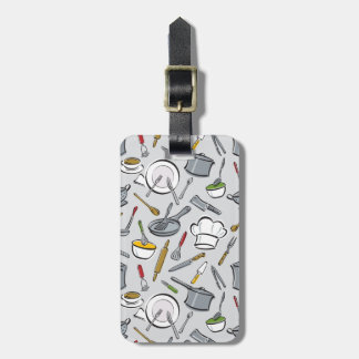 Kitchen Tools Pattern Luggage Tag