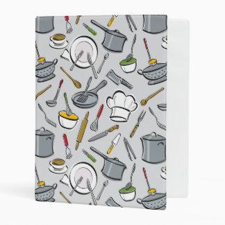 Kitchen Tools Pattern Mini Binder