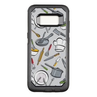 Kitchen Tools Pattern OtterBox Commuter Samsung Galaxy S8 Case