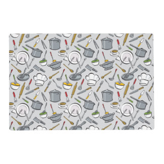 Kitchen Tools Pattern Placemat