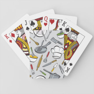 Kitchen Tools Pattern Playing Cards