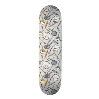 Kitchen Tools Pattern Skateboard Deck