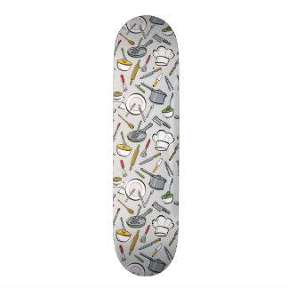 Kitchen Tools Pattern Skateboard Deck