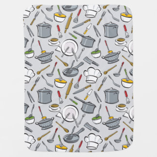 Kitchen Tools Pattern Swaddle Blanket