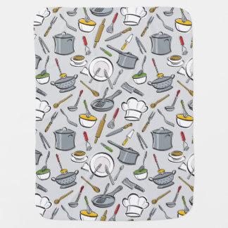 Kitchen Tools Pattern Swaddle Blanket