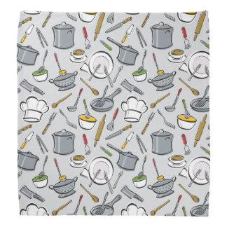 Kitchen Tools Pattern Kerchiefs