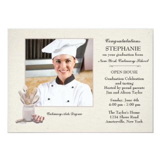 Kitchen Tools Photo Culinary School Graduation Card