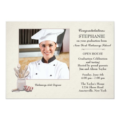 Culinary Arts personalized papers