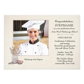 Kitchen Tools Photo Culinary School Graduation Cards