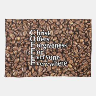 Kitchen Towel 16x24 COFFEE beans Christ Offers For