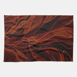 Kitchen Towel--Abstract Fall Leaves