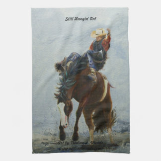 Kitchen Towel, American MoJo, Still Hangin' On! Kitchen Towel