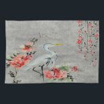 "Kitchen towel  Asian flower crane bird<br><div class=""desc"">Style, Individualize &amp; Personalize almost anything that comes mind. Customize your whole world With A Wide Variety of Unique Zazzle Products to Choose from. Find Or Create those one-of-a-kind gifts you just cant find anywhere else. Specializing in Unique Customizable Apparel &amp; Unique Home Decor and much more. Inspired by the...</div>"