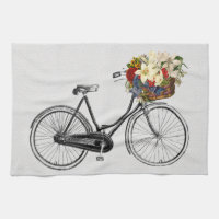 Kitchen towel bicycle flower bike