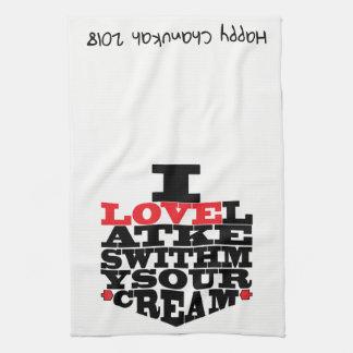 "Kitchen Towel ""Chanukah/I Love Latkes"""