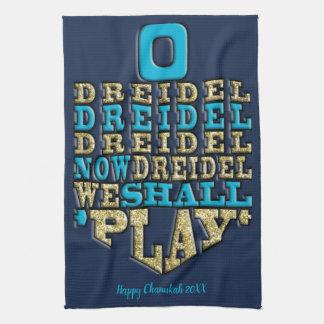 "Kitchen Towel ""Chanukah/O Dreidel Dreidel..."""