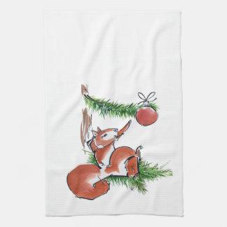 Kitchen Towel - Christmas Squirrel
