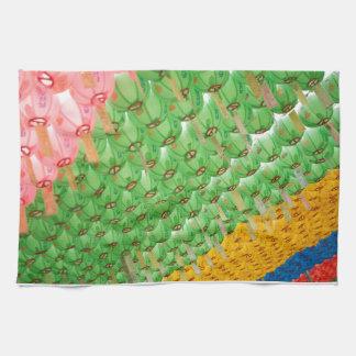 Kitchen Towel: Colorful Korean Paper Lamps Towel