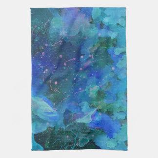 Kitchen Towel--Graffiti in Blue